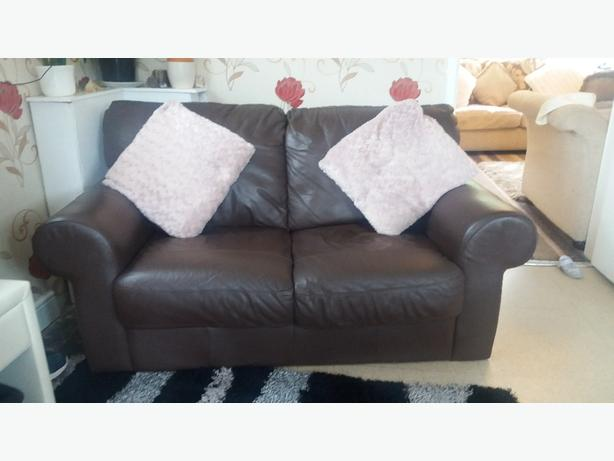 Brown Leather 2 seater