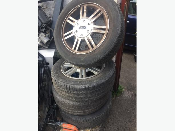"FORD ALLOYS + LEGAL TYRES 14"" 4 STUD 175/65/R14 PCD 4X108 BORE 63.4"