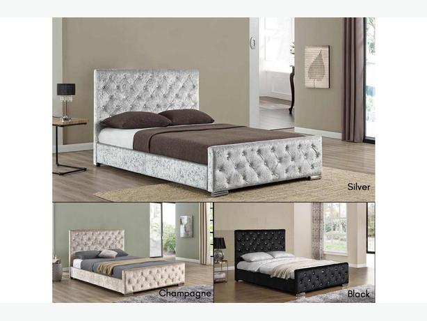 Diamante Studded Crushed Beds