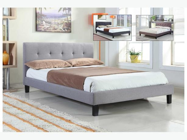 Fabric Upholstered Bed-