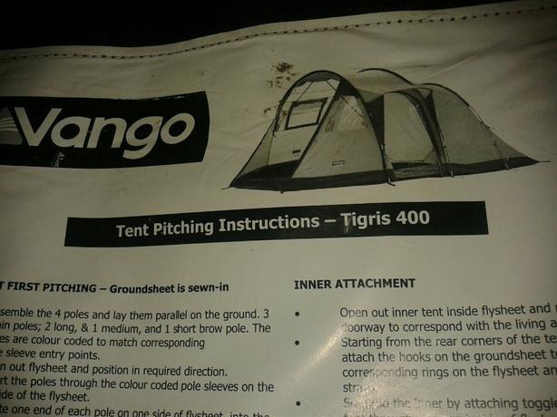 VANGO TIGRIS 400 4 MAN TENT!
