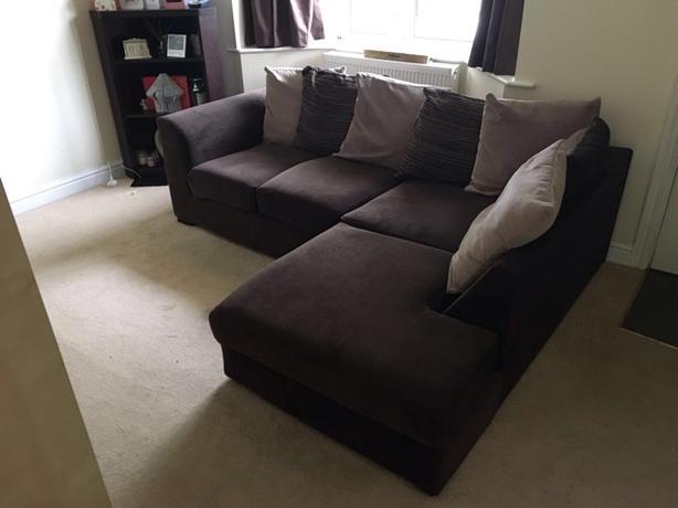 Corner Sofa - Brown