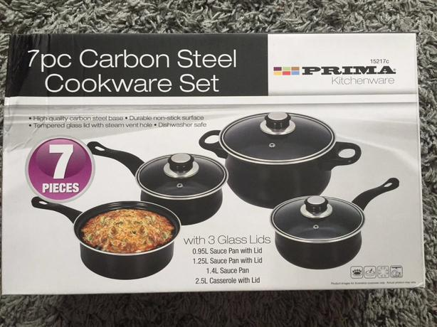 brand new sauce pans.