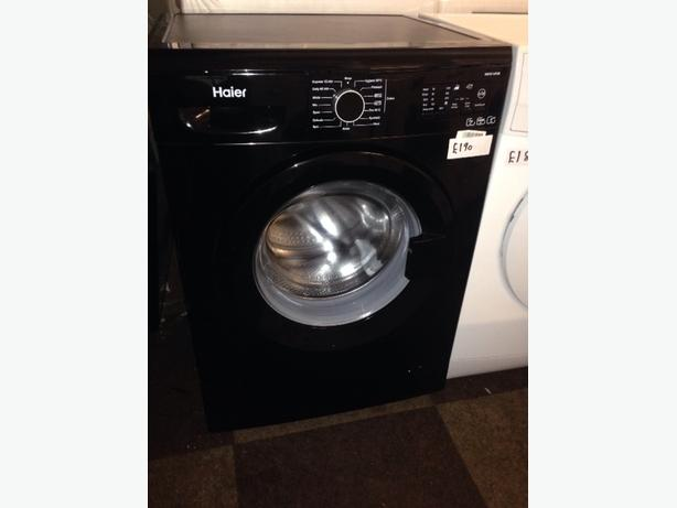 HAIER 7KG BLACK WASHING MACHINE