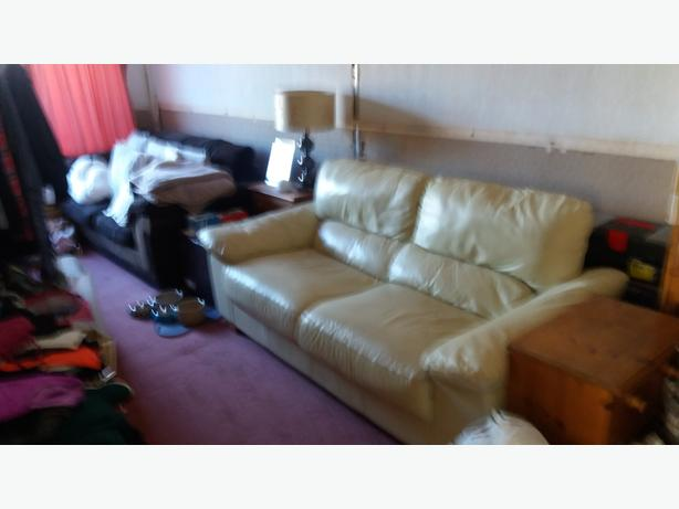 Free 3 seater leather  settee