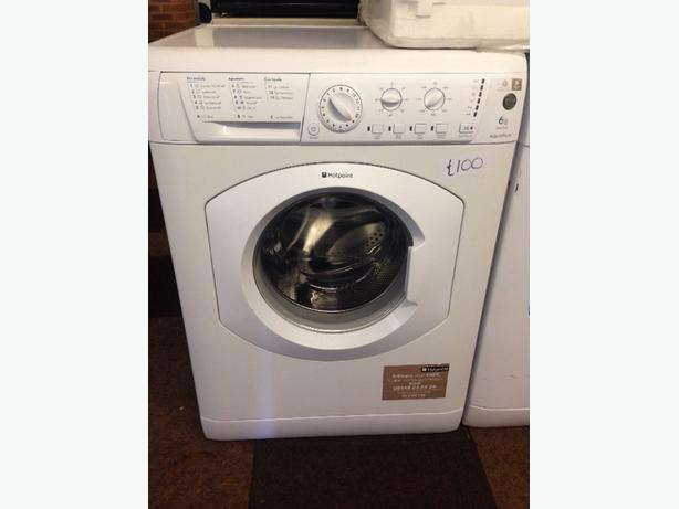 WHITE HOTPOINT 6KG AQUARIUS WASHING MACHINE