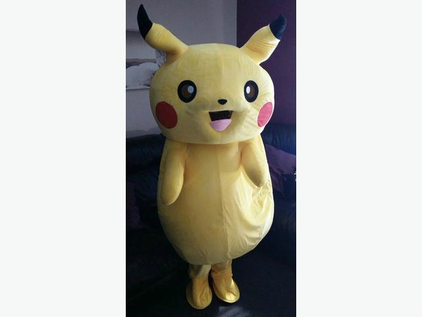 Pokemon Pikachu mascot costume hire