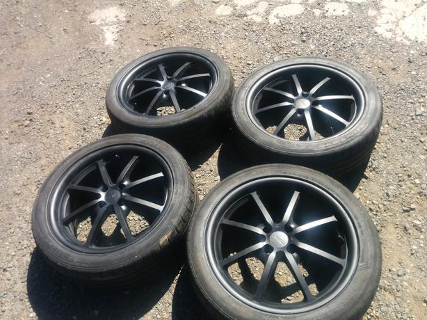 "For sale: set of 4 used TSW 17""  Black Alloy Wheels"
