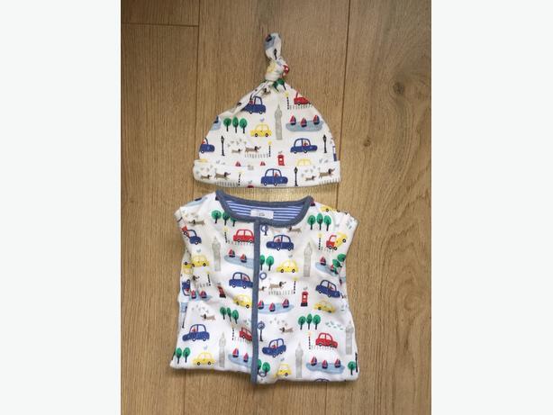 Baby boy John Lewis 0-3 sleepsuits.