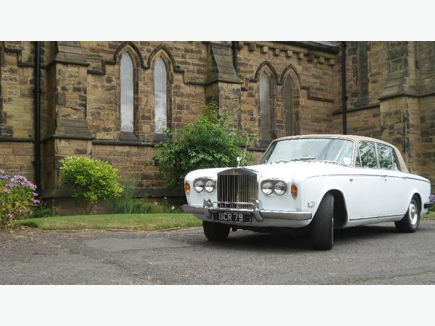 FOR TRADE: white wedding cars
