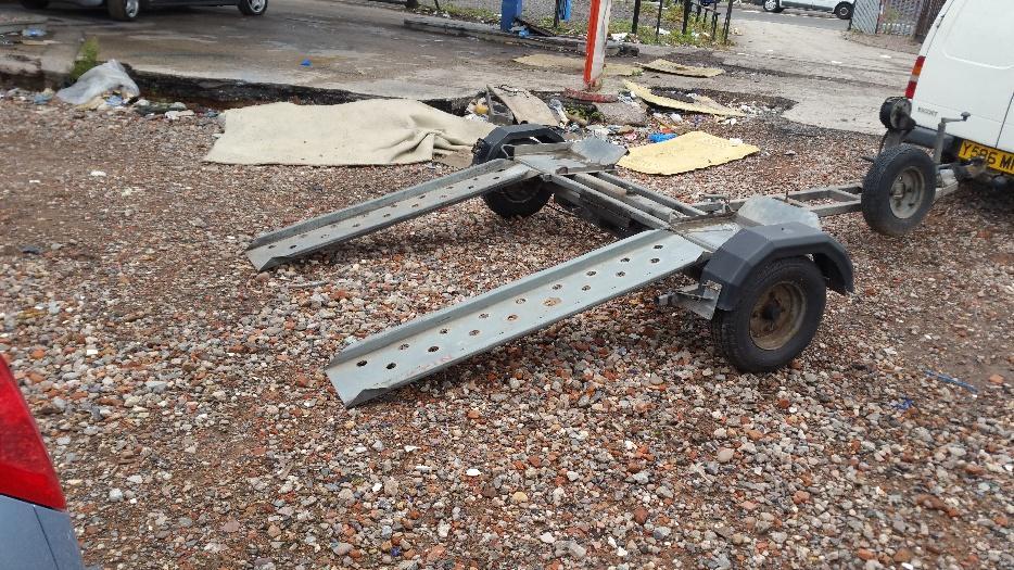 Car towing dolly car trailer heavy duty walsall sandwell for Motorized trailer dolly rental
