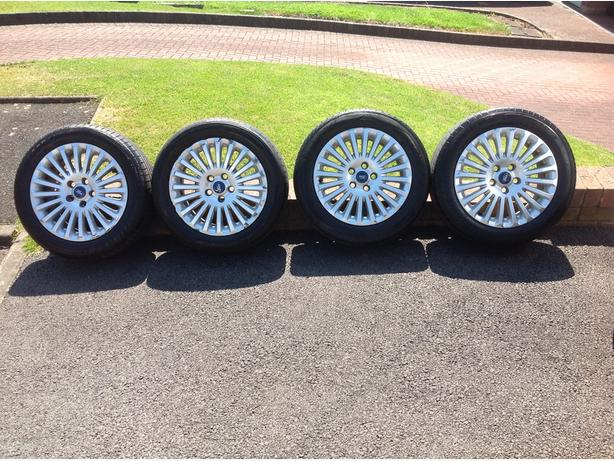 Log In Needed 175 Ford Focus Titanium 16 Alloy Wheels Tyres Set Of Four 5x108