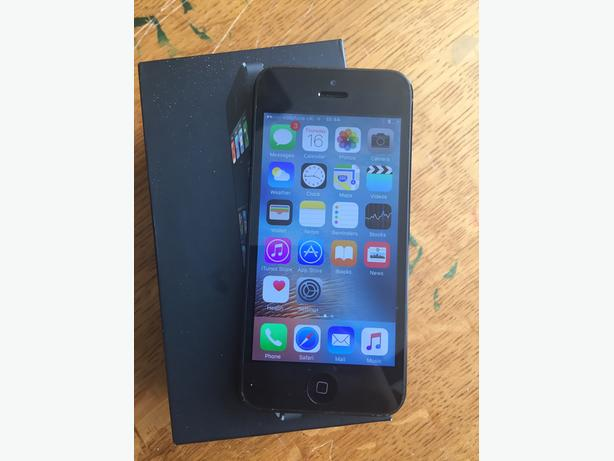 APPLE IPHONE 5 64GB ON VODAFONE BLACK BOXED NEW