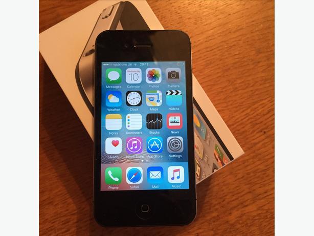 APPLE IPHONE 4S VODAFONE 16GB BLACK BOXED