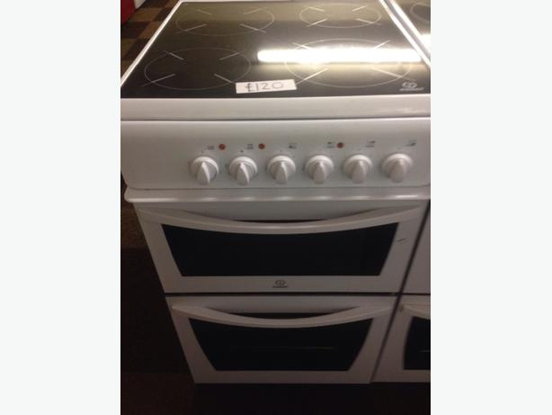 INDESIT ELECTRIC COOKER CERAMIC GLASS TOP 50CM