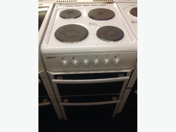 WHITE PLATED BEKO ELECTRIC COOKER 50CM