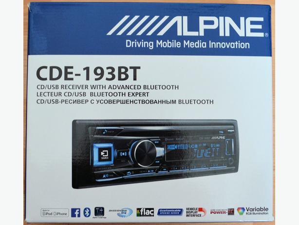 alpine cde 193bt cd usb receiver with advanced bluetooth. Black Bedroom Furniture Sets. Home Design Ideas
