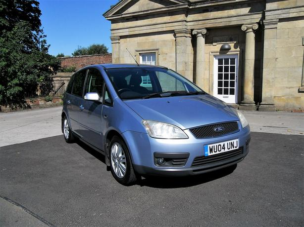 2004 FORD FOCUS C-MAX GHIA SILVER, 1.6L DIESEL,FSH,ONLY 89K, SUPERB CONDITION.