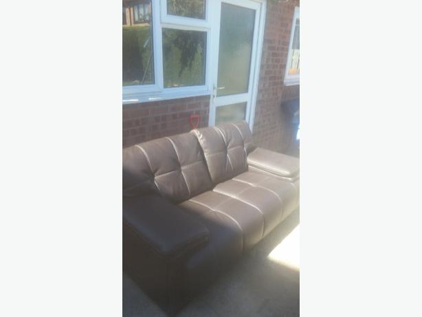 2 seater leather brown