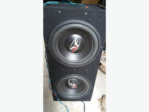 two 12 inch subs in box