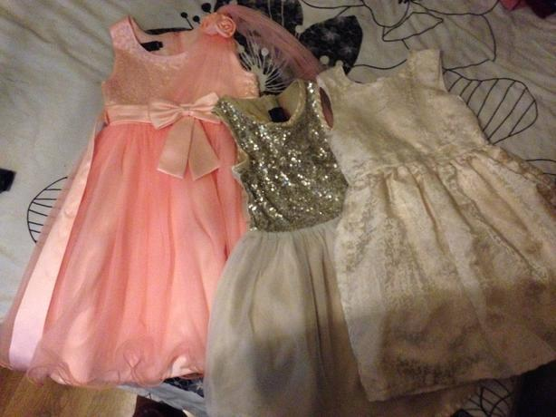 3x girls dresses 7-8 years