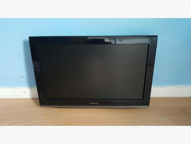 "22"" Toshiba television with built in dvd player."