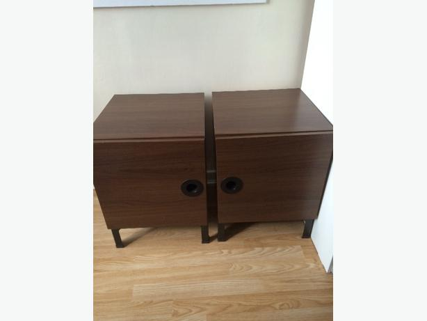 2x brown bedside cabients