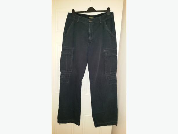 "3x Pairs Mens Lee Cooper Cargo Work Trousers 38"" waist 34"" leg"