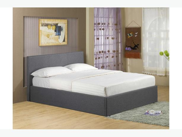 Richmond Grey Fabric Ottoman Storage Bed