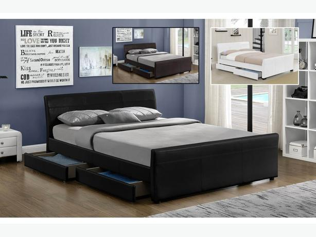 Venetian 4 Drawer Storage Sleigh Bed