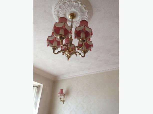 2 x brass ceiling lights