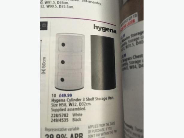 hygena cylinder unit