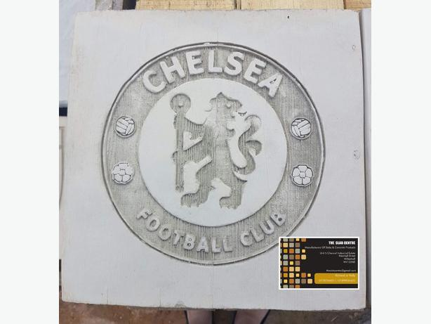 Chelsea Concrete Garden Football Plaque