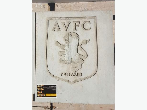 AVFC Aston Villa Concrete Garden Football Plaques