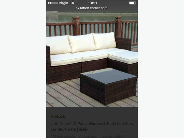 WANTED: rattan corner sofa