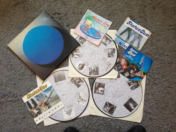 """Status Quo 3 Album Box Set & 4 7"""" Singles"""