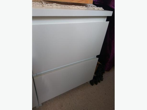 2 drawer ikea bedside table