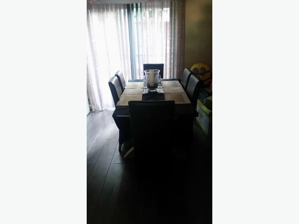 Glass table and six chair perfect condition.