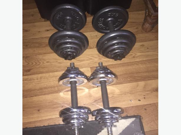 dumbells steel