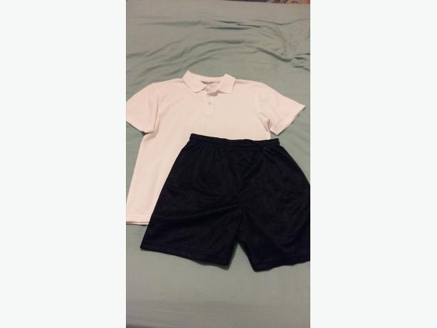 Boys 2 x Pairs of Grey Trousers (10/11 Yrs) and 1 x PE Kit (10 yrs).