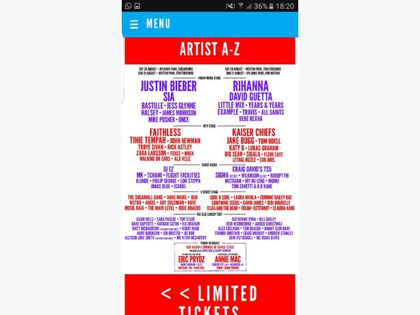 2 vfestival weekend camping tickets
