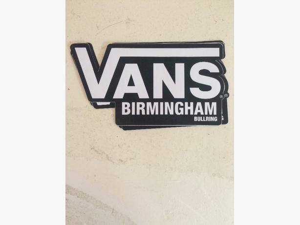Vans birmingham 'sticker'