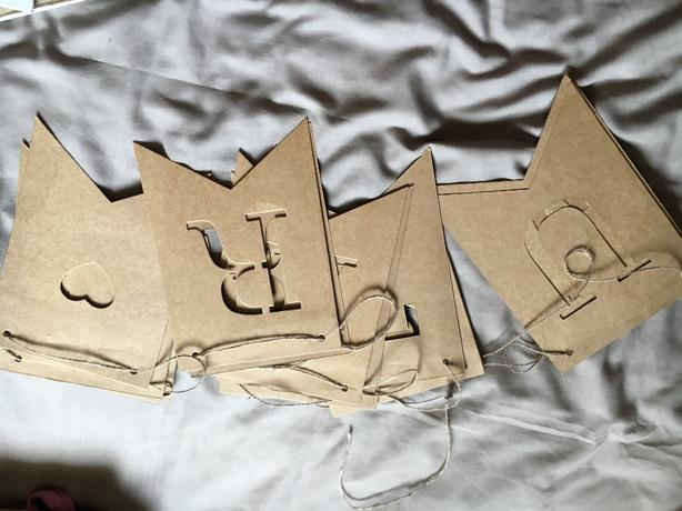 just married hanging bunting..