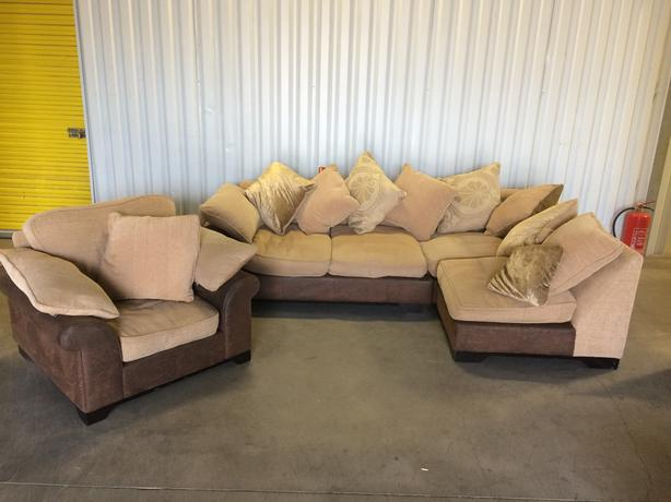 Dfs Corner Sofa And Chair In Good Condition Free Delivery Wednesbury Sandwell