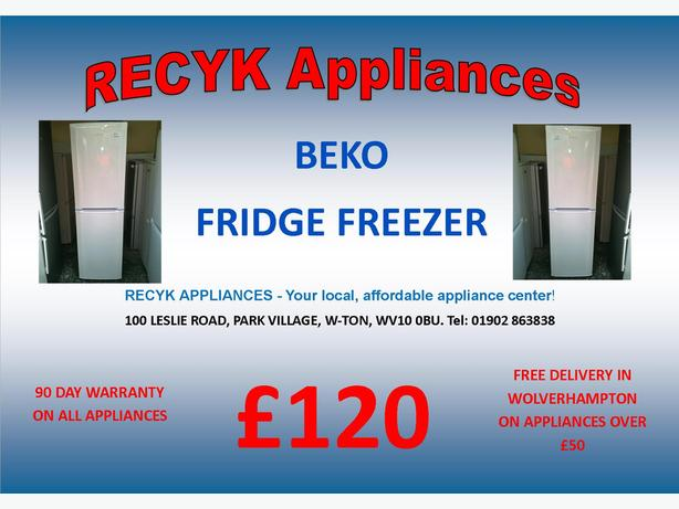 TALL BEKO FRIDGE FREEZER WITH GUARANTEE