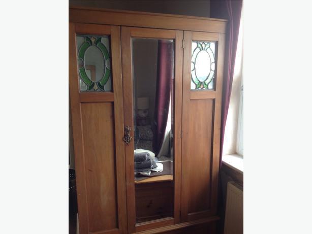 Vintage French oak wardrobe