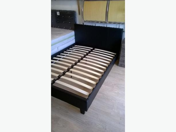 LEATHER DOUBLE BEDFRAME