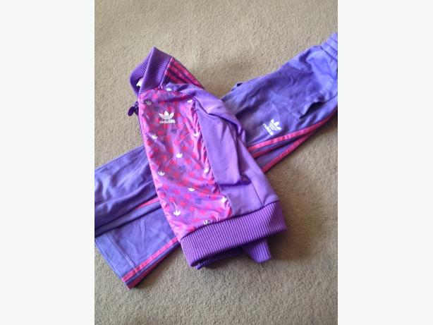 girls addidas tracksuit aged 5 years