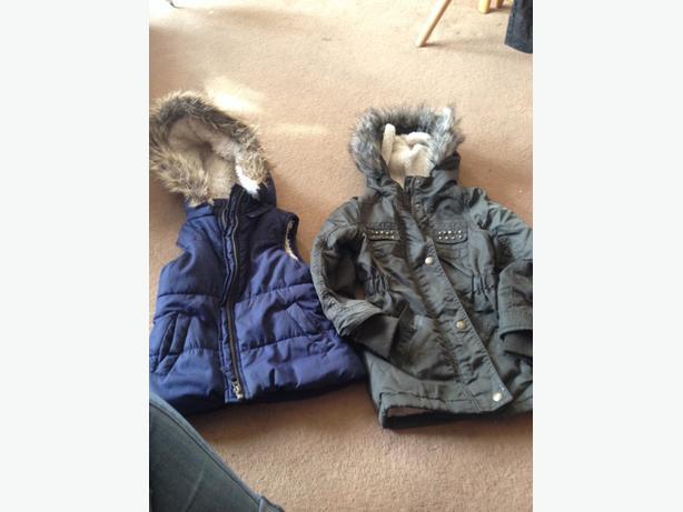 bomber jacket and coat aged 4-5
