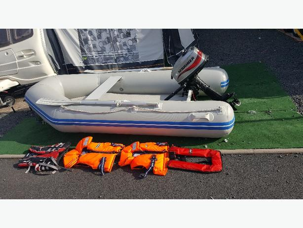 2.7 mtr inflatable rib with 4hp engine